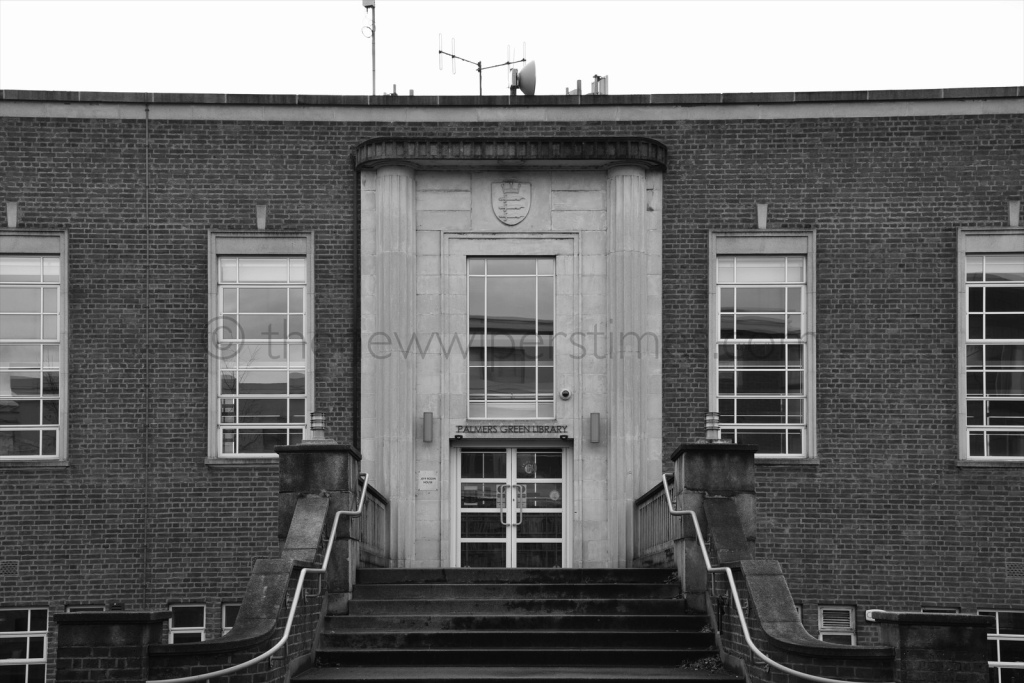 Palmers Green Library Southgate Enfield London Broomfield Road Green Lanes Art Deco Building J.T.W Peat Architect Interwar